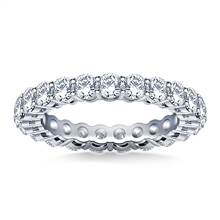 Ageless Round Diamond Eternity Ring in 14K White Gold (2.00 - 2.30 cttw.) | B2C Jewels