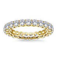 Ageless Round Diamond Eternity Ring in 14K Yellow Gold (2.00 - 2.30 cttw.) | B2C Jewels