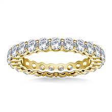 Ageless Round Diamond Eternity Ring in 14K Yellow Gold (2.00 - 2.30 cttw.) | B2C Jewels