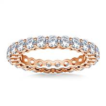Ageless Round Diamond Eternity Ring in 18K Rose Gold (2.00 - 2.30 cttw.) | B2C Jewels