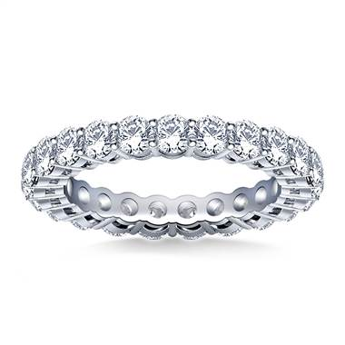 Ageless Round Diamond Eternity Ring in 18K White Gold (2.00 - 2.30 cttw.)
