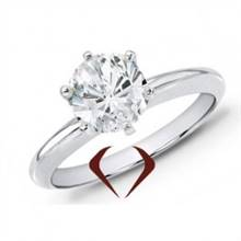 AGI 1.55 CT D SI1 Ex Ex Ex Round Diamond Solitaire Ring 14K -IDJ012353 | I.D.Jewelry