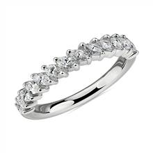 Angled Marquise Diamond Wedding Ring in 14k White Gold (3/4 ct. tw.) | Blue Nile