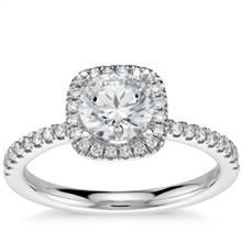 Arietta Halo Diamond Engagement Ring in Platinum (1/5 ct. tw.) | Blue Nile