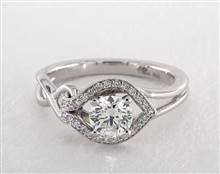 Asymmetrical Love Knot Vintage Ring in 18K White Gold 5mm Width Band (Setting Price) | James Allen