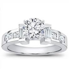 Baguette and Princess Cut Engagement Setting | Adiamor