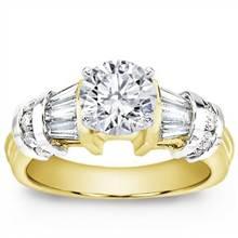 Baguette and Round Diamond Engagement Setting | Adiamor