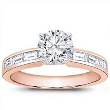 Baguette Diamond Engagement Setting (0.50 CTTW) | Adiamor