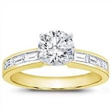Baguette Diamond Engagement Setting | Adiamor