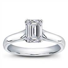 Basket Solitaire for Emerald Cut Diamond | Adiamor