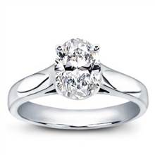 Basket Solitaire for Oval Diamond | Adiamor