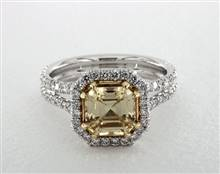 Beautiful Split Shank Pave Halo .8ctw Engagement Ring in 3.50mm 18K White Gold (Setting Price) | James Allen