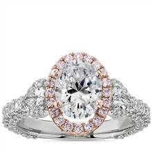 Bella Vaughan for Blue Nile Catarina Diamond Engagement Ring in Platinum with 18k Rose Gold and Pink Diamond Details (1 3/4 ct. tw.) | Blue Nile