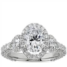 Bella Vaughan for Blue Nile Catarina Oval Diamond Engagement Ring in Platinum (1 3/4 ct. tw.)   Blue Nile