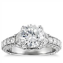 Bella Vaughan for Blue Nile Grandeur Trapezoid Diamond Engagement Ring in Platinum (2 1/4 ct. tw.) | Blue Nile