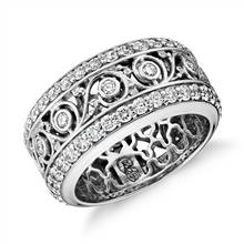 Bella Vaughan for Blue Nile Lace Diamond Eternity Ring in 18k White Gold | Blue Nile