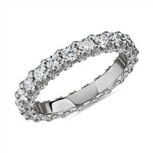 Bella Vaughan for Blue Nile Roma Diamond Wedding Ring in Platinum (1 5/8 ct. tw.) - G/VS2 | Blue Nile