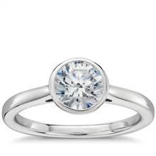 Bezel Set Solitaire Engagement Ring in Platinum   Blue Nile