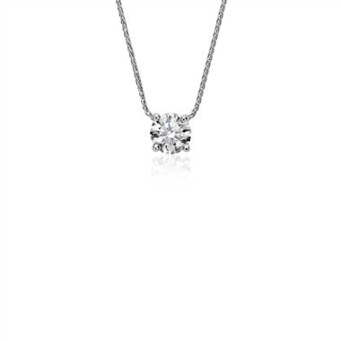 """Blue Nile Signature Floating Diamond Solitaire Pendant in Platinum (.60 ct. tw.)"""