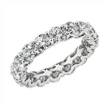 """Blue Nile Studio Diamond Cloud Eternity Band in Platinum (4 ct. tw.)"" 