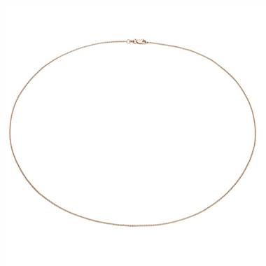 """Cable Chain in 14k Rose Gold"""