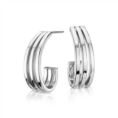 Cascading Hoops in Sterling Silver