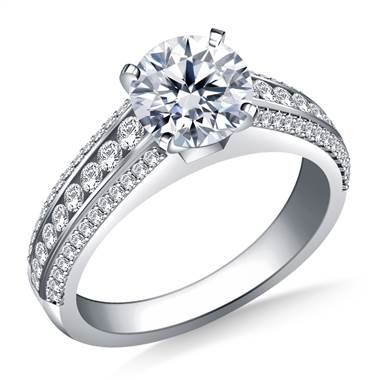 Cathedral Diamond Engagement Ring in 14K White Gold (1/2 cttw.)