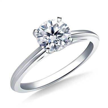 Cathedral Knife Edge Solitaire Diamond Engagement Ring in Platinum (1.8 mm)