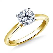 Cathedral Solitaire Engagement Ring Mounting in 18K Yellow Gold (1.9 mm) | B2C Jewels