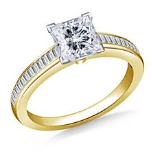 Channel Set Baguette Diamond Engagement Ring in 14K Yellow Gold (3/8 cttw.) | B2C Jewels