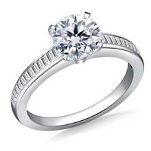 Channel Set Baguette Diamond Engagement Ring in Platinum (3/8 cttw.) | B2C Jewels