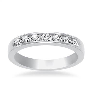Channel Set Diamond Band In Platinum