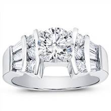 Channel Set Engagement Setting With Six Tapered Baguettes | Adiamor