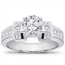 Channel-Set Princess Cut Engagement Setting | Adiamor