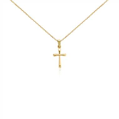 """Children's Cross Pendant in 14k Yellow Gold"""
