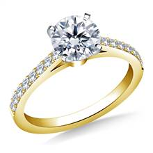 Classic Cathedral Prong Set Diamond Engagement Ring in 18K Yellow Gold (1/3 cttw.) | B2C Jewels