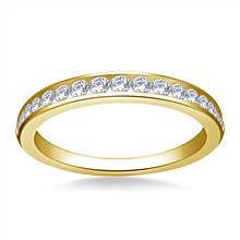 Classic Channel Set Diamond Band in 18K Yellow Gold (3/8 cttw.)   B2C Jewels