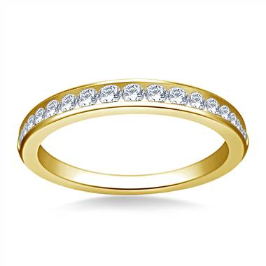 Classic Channel Set Diamond Band in 18K Yellow Gold (3/8 cttw.)