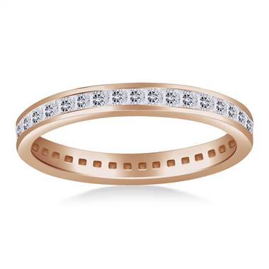 Classic Channel Set Princess Diamond Eternity Ring in 18K Rose Gold  (0.72 - 0.86 cttw.)