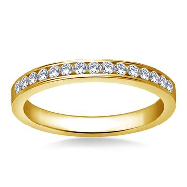 Classic Channel Set Round Diamond Band in 18K Yellow Gold (1/3 cttw.)