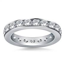 Classic Channel Set Round Diamond Eternity Ring in 18K White Gold (1.90 - 2.30 cttw.) | B2C Jewels