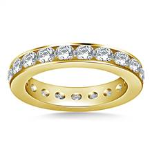 Classic Channel Set Round Diamond Eternity Ring in 18K Yellow Gold (1.90 - 2.30 cttw.) | B2C Jewels