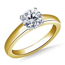 Classic Comfort Fit Tapered Solitaire Engagement Ring in 18K Yellow Gold (3.2 mm) | B2C Jewels
