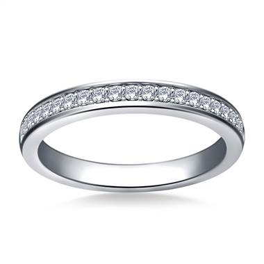 Classic Diamond Studded Band in 14K White Gold (1/4 cttw.)
