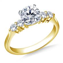 Classic Five Stone Diamond Engagement Ring in 18K Yellow Gold (3/8 cttw.) | B2C Jewels
