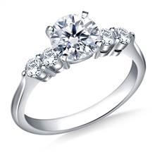 Classic Five Stone Diamond Engagement Ring in Platinum (3/8 cttw.) | B2C Jewels