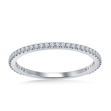 Classic Petite Diamond Wedding Band in 18K White Gold (1/4 cttw.)