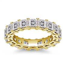 Classic Prong Set Princess Cut Diamond Eternity Ring in 18K Yellow Gold (4.86 - 5.67 cttw) | B2C Jewels