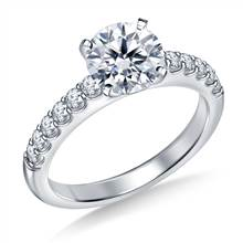 Classic Prong Set Round Diamond Engagement Ring in 14K White Gold (1/3 cttw.) | B2C Jewels