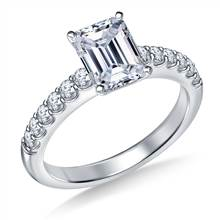 Classic Prong Set Round Diamond Engagement Ring in 18K White Gold (1/3 cttw.)   B2C Jewels